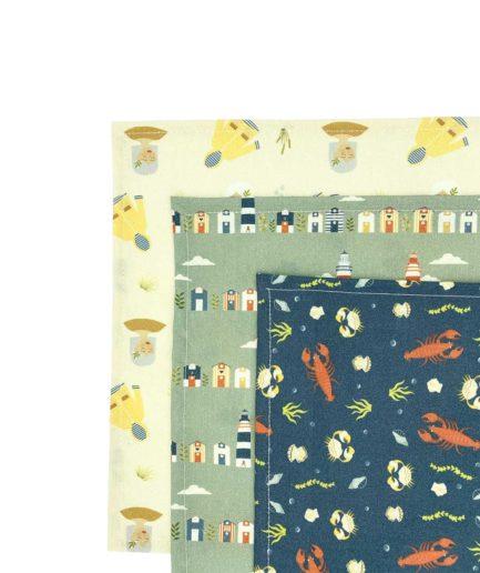 ernest&lulu - mouchoirs en tissu bio fabriqué en france mixte - réutilisables - durables - zéro déchet