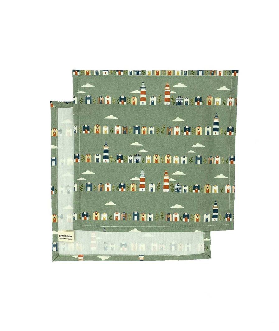 mouchoirs en tissu bio fabriqué en france joli - réutilisables - durables - zéro déchet