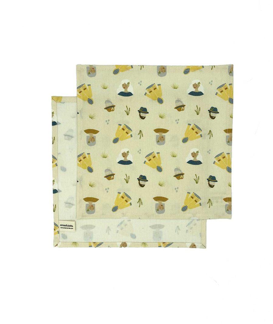 mouchoirs en tissu bio made in france joli - réutilisables - durables - zéro déchet