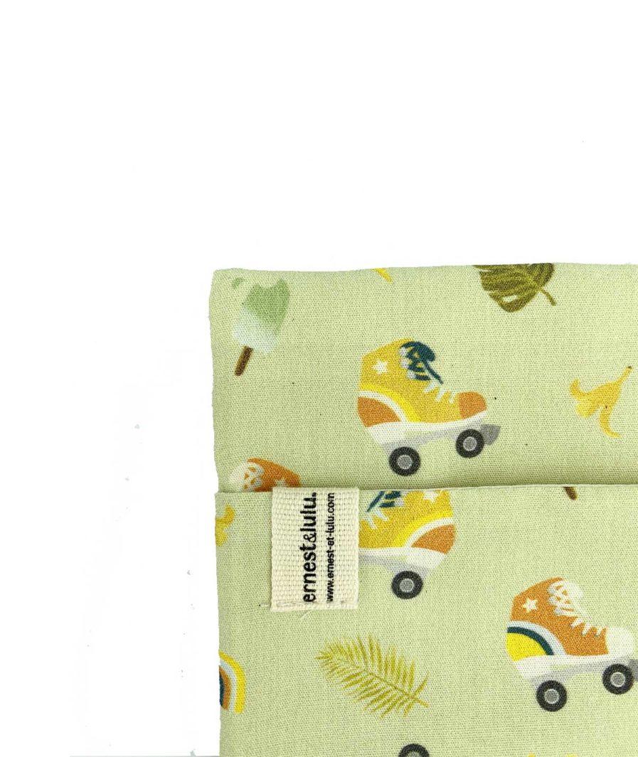 pochette en tissu pour mouchoirs vintage - made in france - vintage