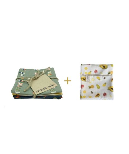 zéro déchet - mouchoirs en tissu bio - made in france - durable