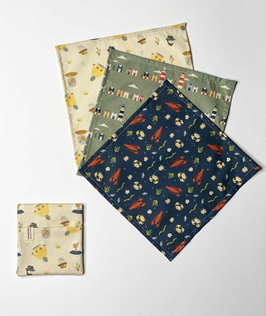 mouchoir tissu fabrication francaise - lavables et réutilisables