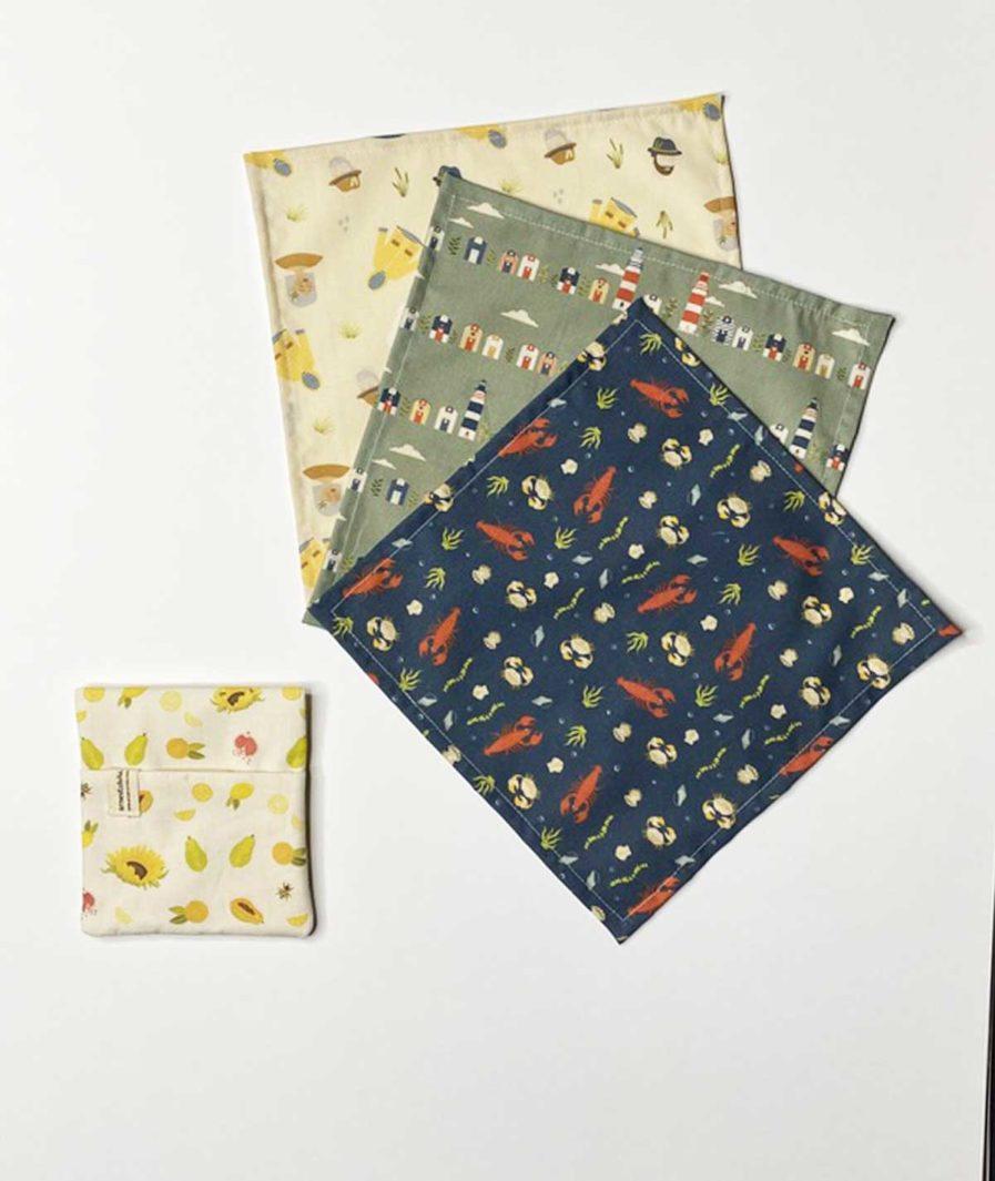 mouchoir en tissu coton femme - zero dechet - made in france