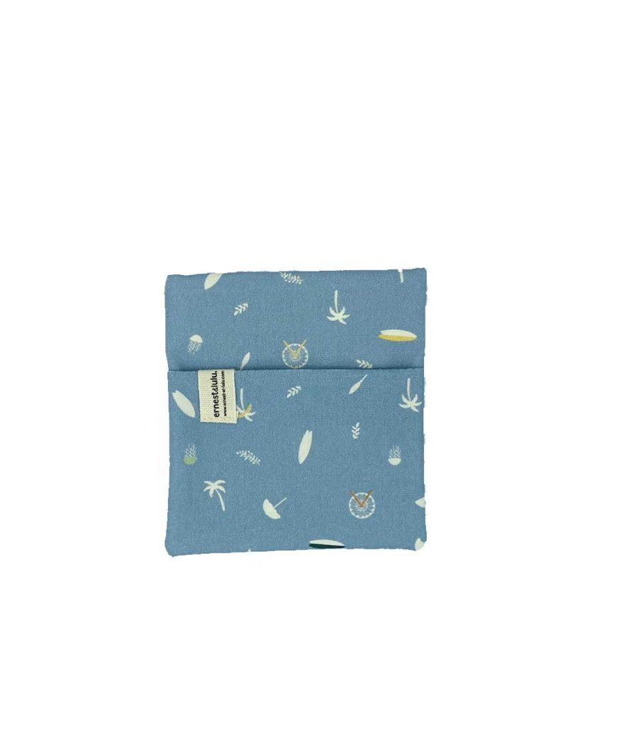 pochette en tissu pour mouchoirs surf et palmiers - made in france - vintage