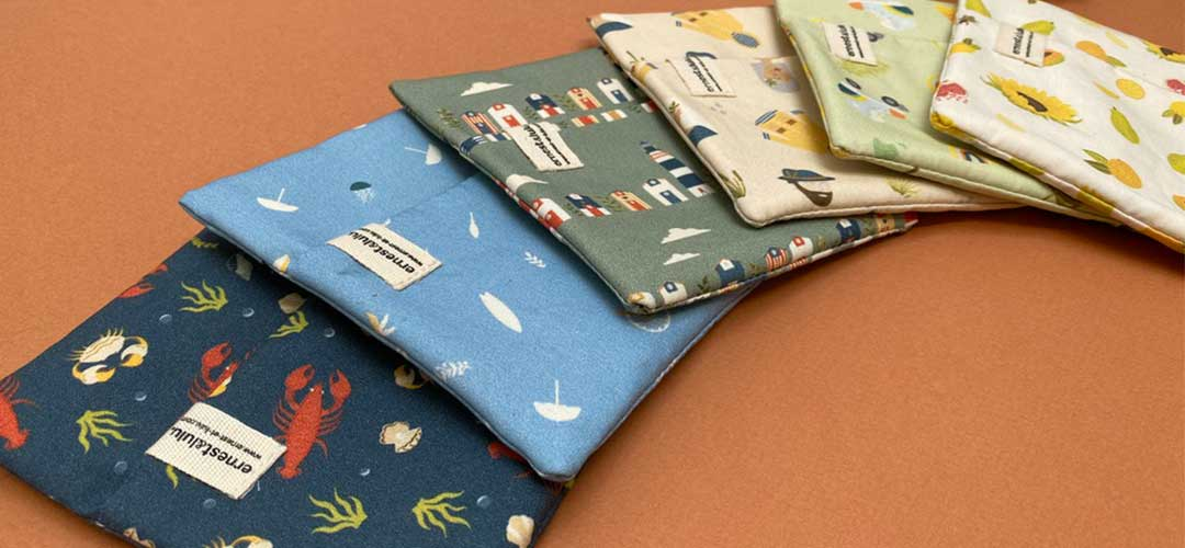 pochette pour mouchoir coton bio France ernest et lulu