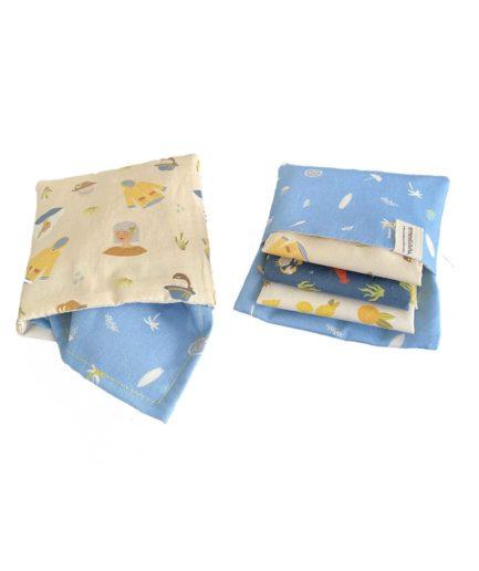 pochette en tissu bio pour mouchoirs en tissu fabriqué en france