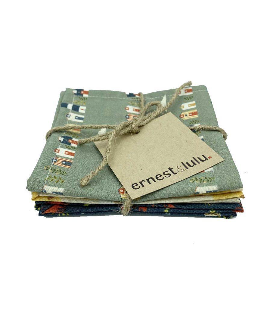 ernest&lulu - mouchoirs en tissu bio fabriqué en france mixte - réutilisables - lavables - durables - zéro déchet