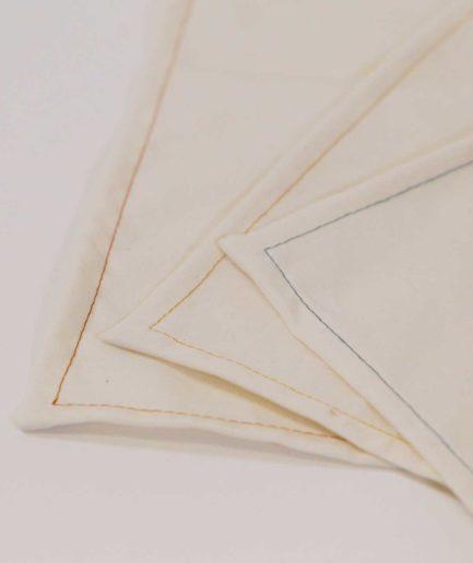 lot de 3 mouchoirs en tissu bio unis - mouchoir homme