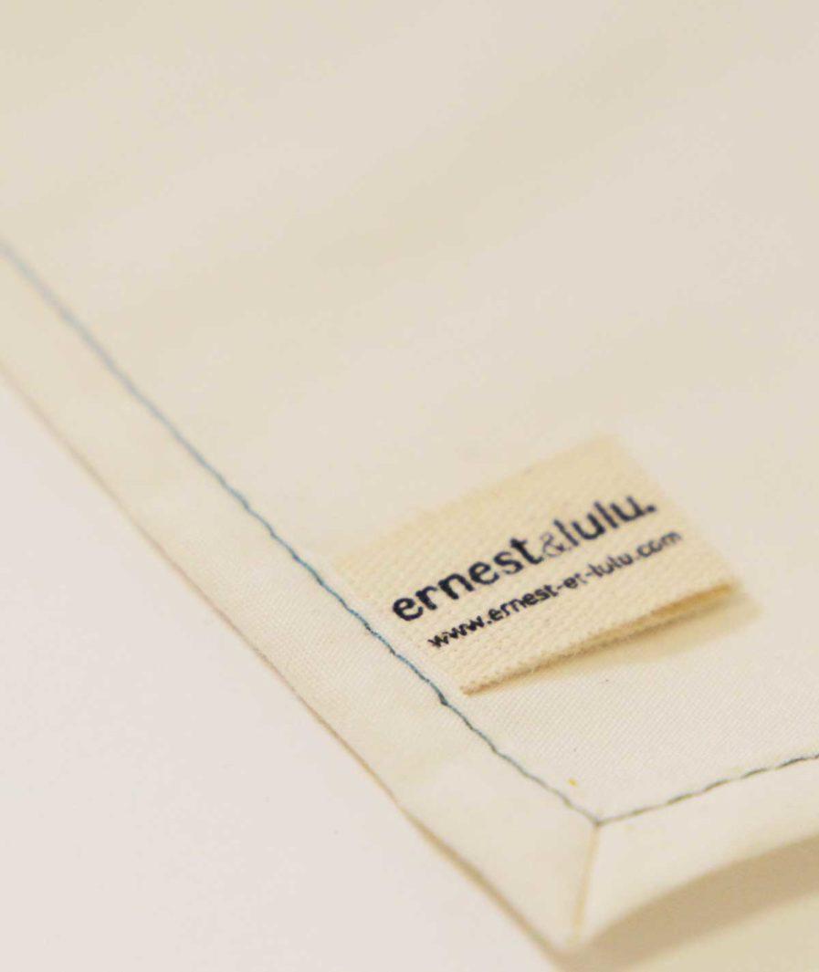 etiquette mouchoirs en tissu bio ernest et lulu pour homme et femme