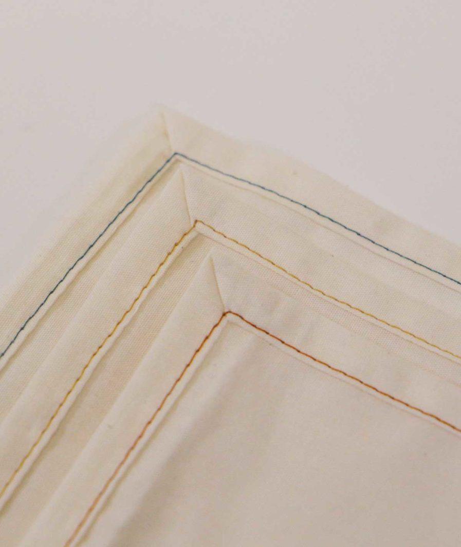 mouchoir en coton homme et femme unis - bio - fabriqués en france