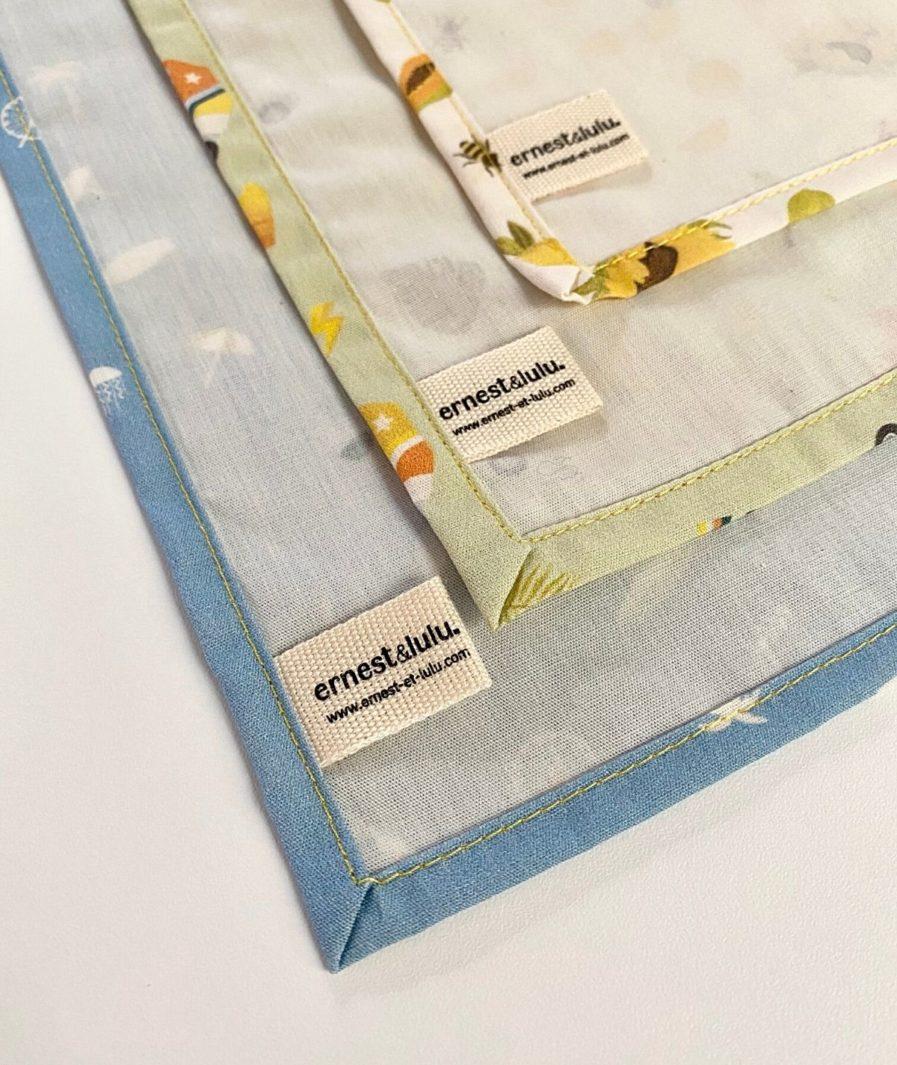 Mouchoirs en tissu bio femme