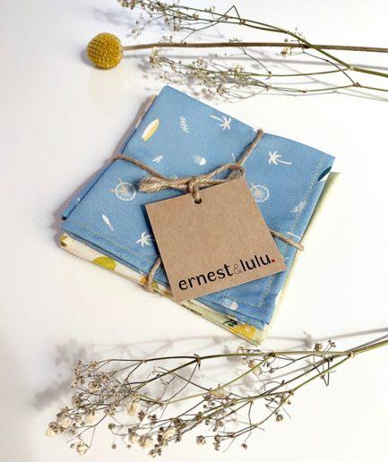 Mouchoirs en tissu bio motif imprimes