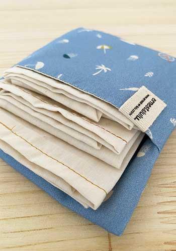 pochette pour mouchoirs en tissu bio ernest et lulu éthique et responsable