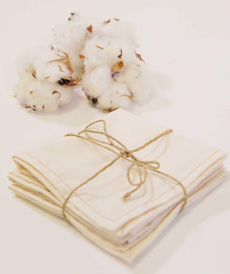 mouchoirs en tissu bio unis - mouchoir en tissu blanc