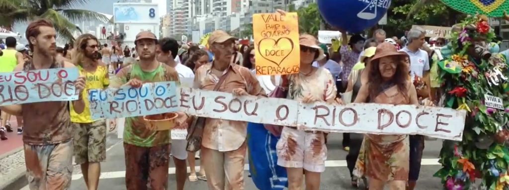 Manifestation Rio 2015 - réchauffement climatique
