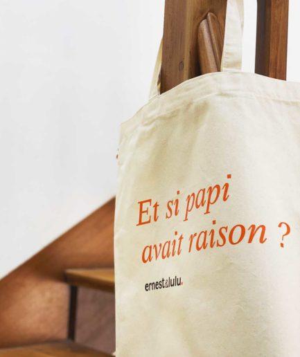 tote bag made in france et si papi avait raison