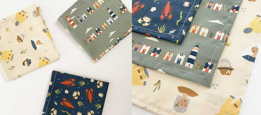 Handkerchiefs in organic fabric - armelle & malo collection