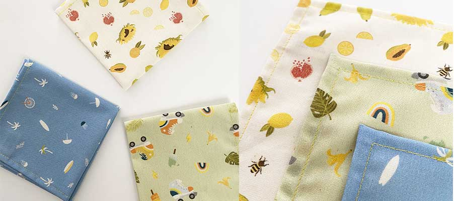 Handkerchiefs in organic fabric - madeleine&raymond collection