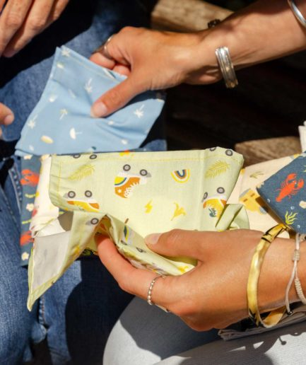 cadeau mouchoirs en tissu bio made in france