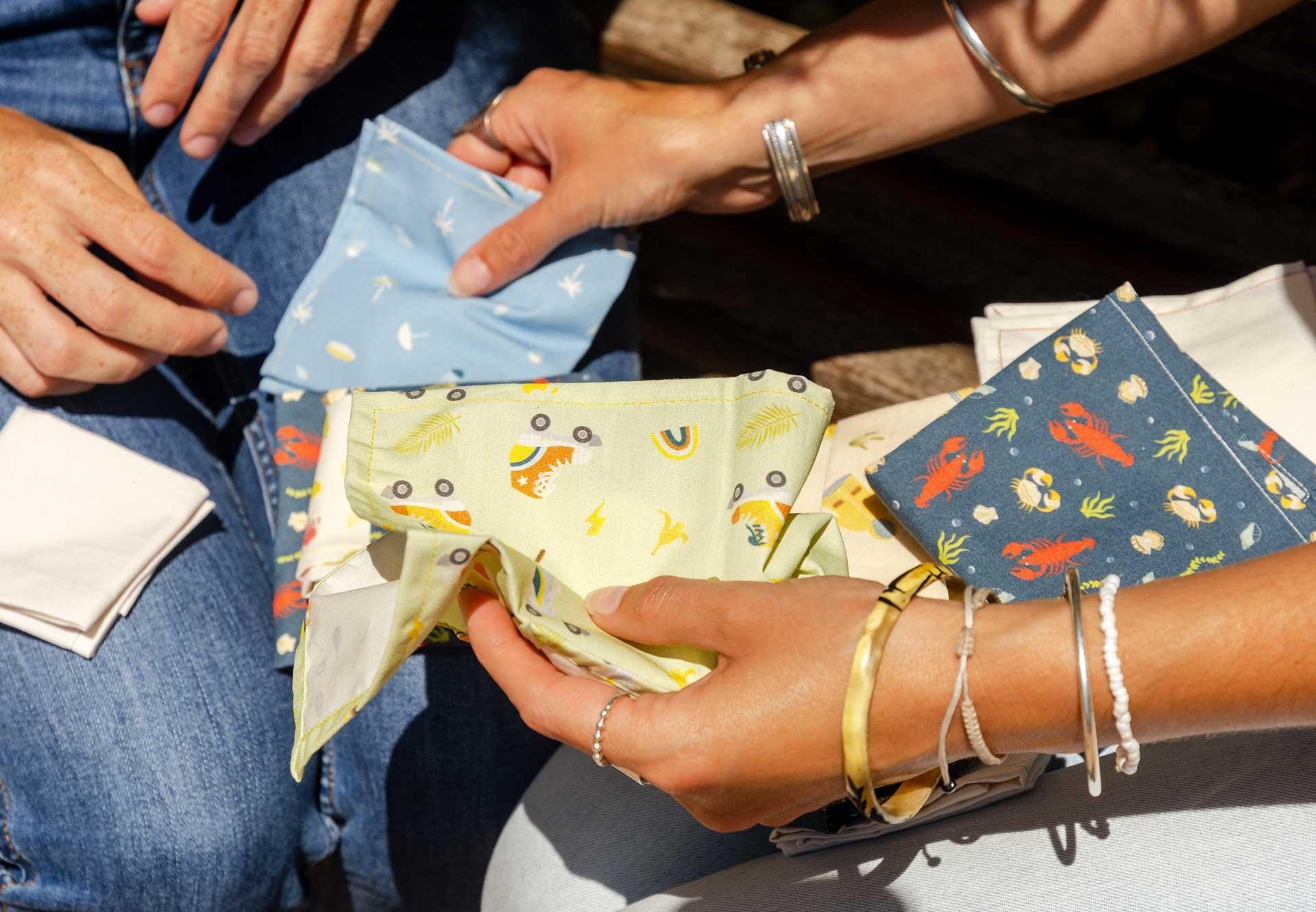 mouchoirs en tissu bio fabriqué en france