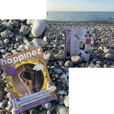 Magazine Happinez - mouchoirs en tissu bio