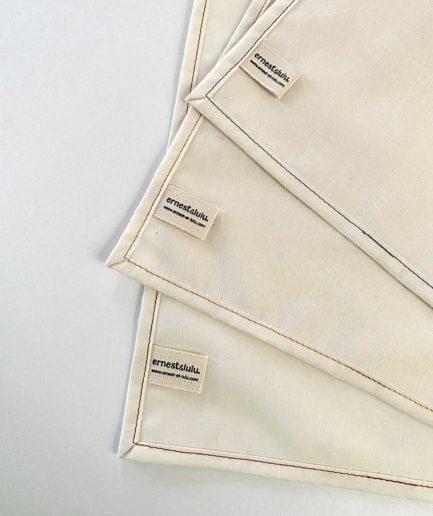 Mouchoirs en tissu bio homme