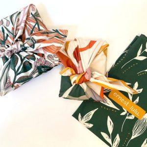 Furoshiki en coton bio made in France