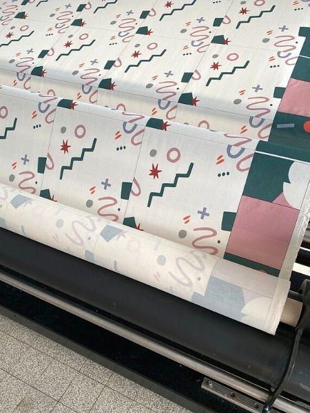Impression éologique textile française - mise sur rouleau