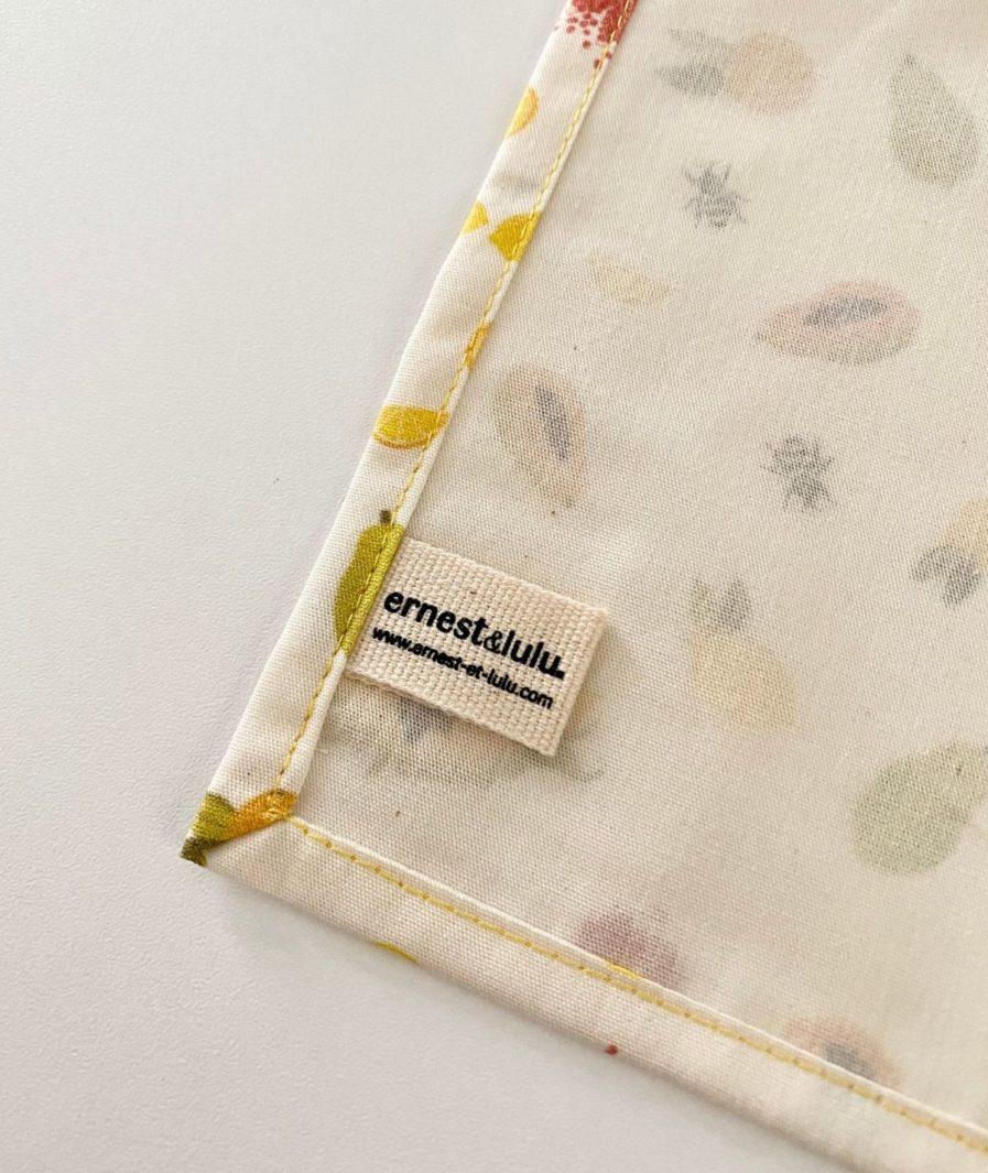 Mouchoir tissu made in france agrumes et tournesols
