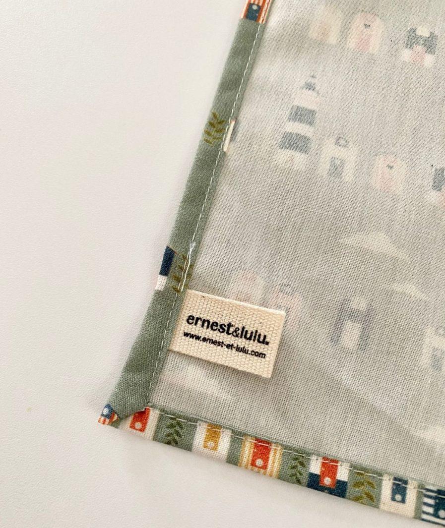 Mouchoir tissu made in france cabanes de plage