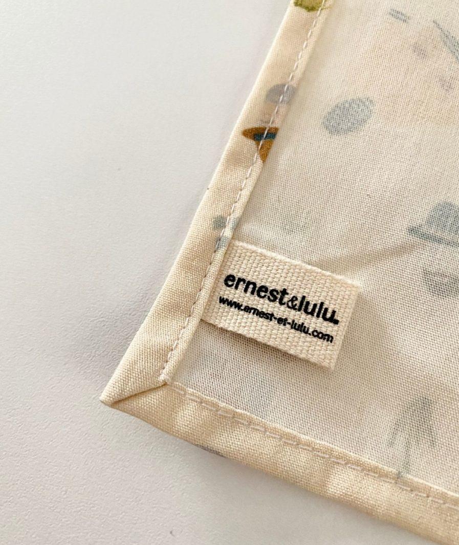 Mouchoir tissu made in france cirés jaunes