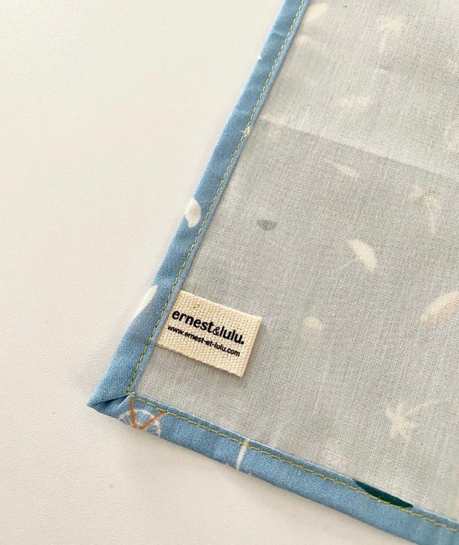 Mouchoir tissu made in france surf et palmiers