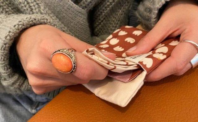 pochette mouchoirs en tissu bio made in france