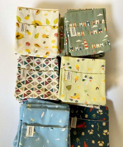 pochettes moches accessoire mouchoirs en tissu bio