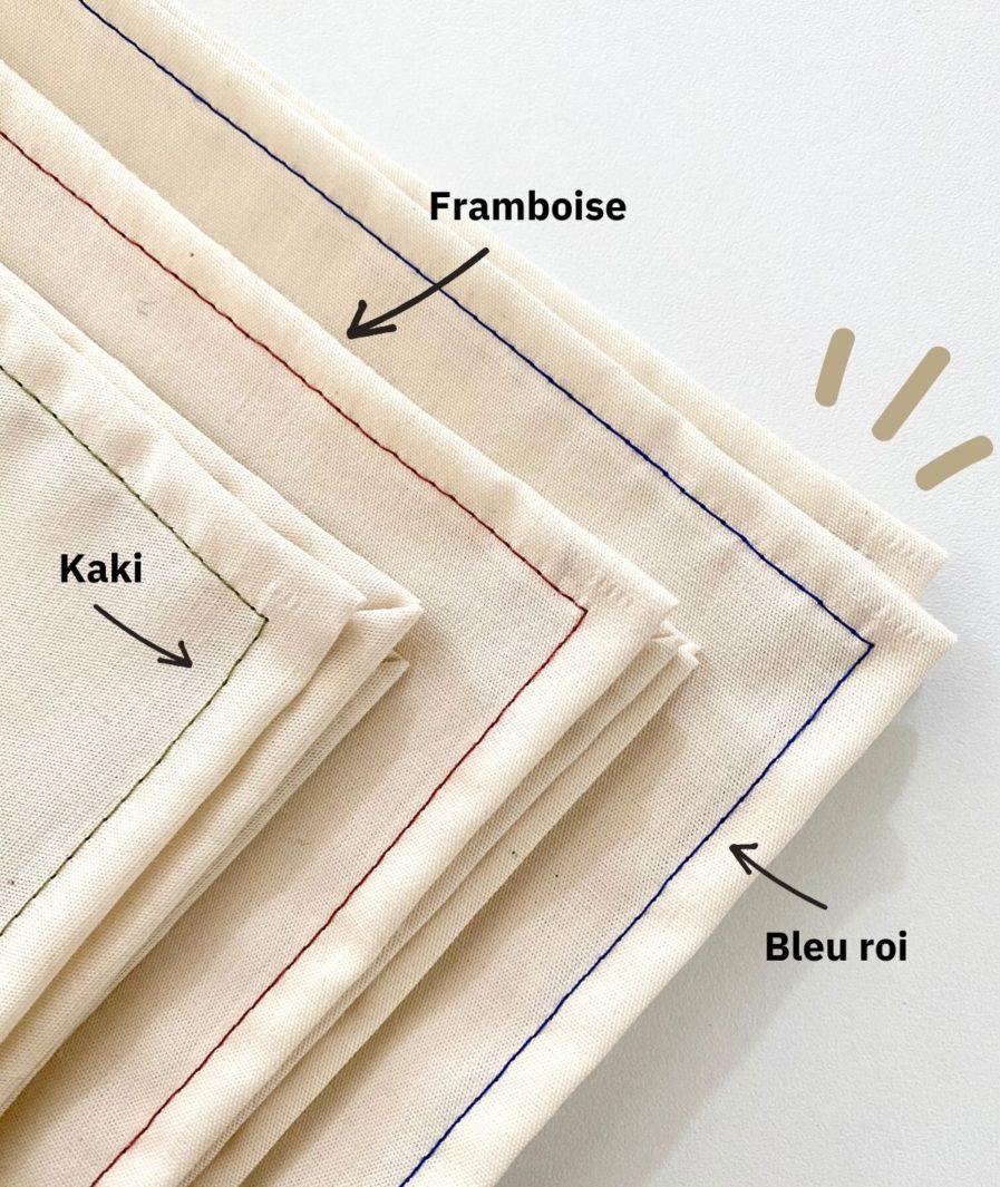 Mouchoirs en tissu bleu roi