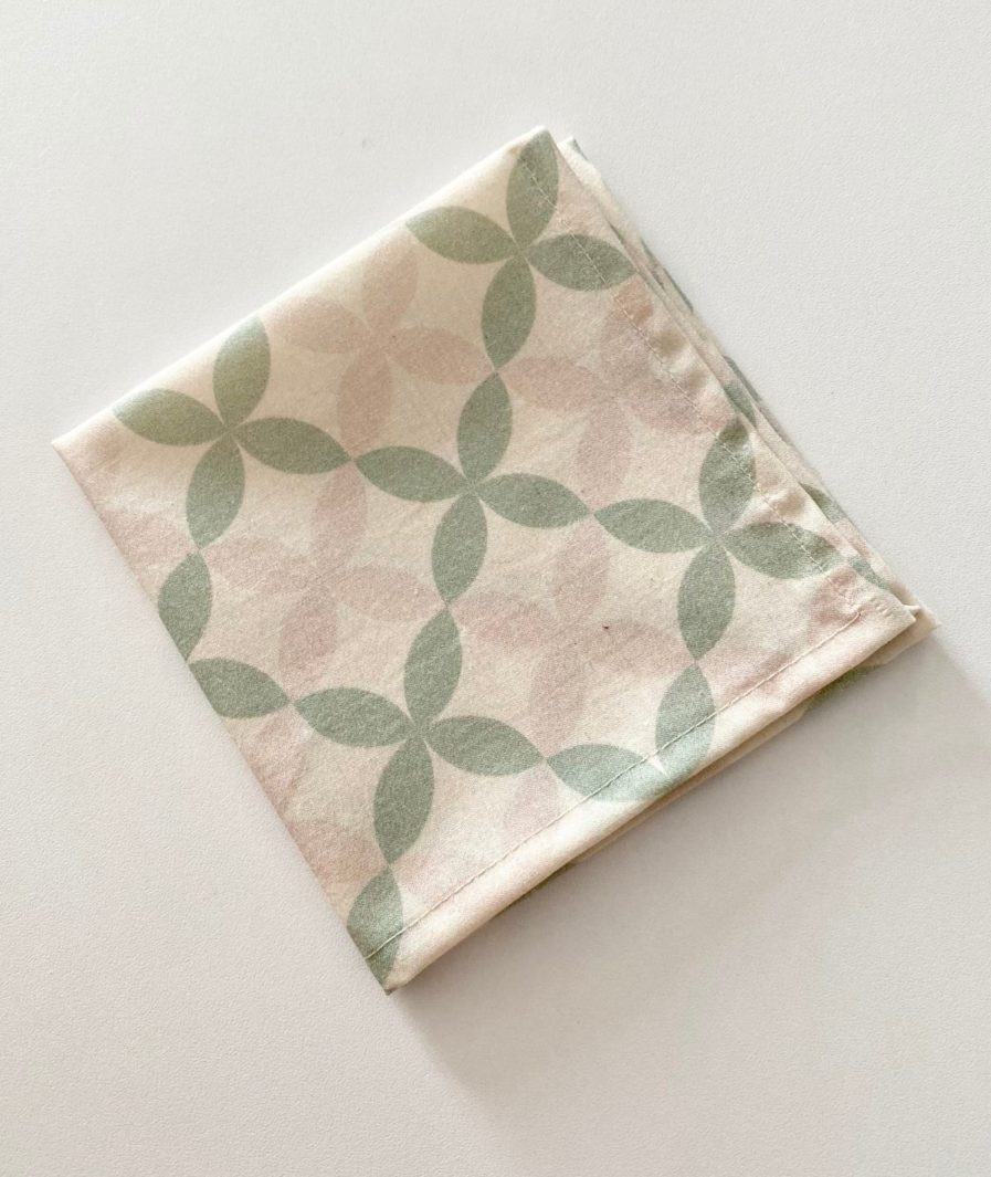 mouchoir en tissu bio motif sixties