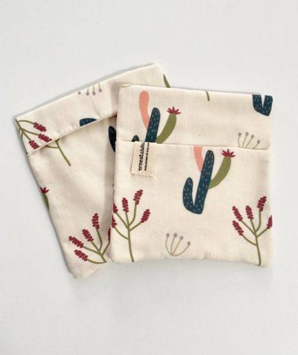 Pochette mouchoir cactus