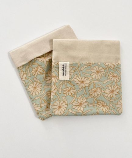 Pochette mouchoir fleurs vintage