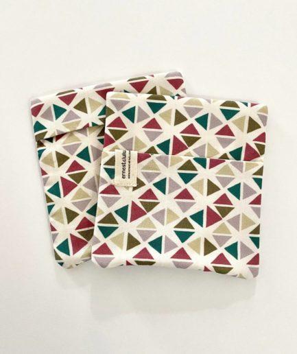Pochette mouchoir géométrique
