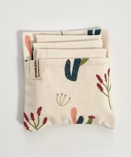 Pochette mouchoirs cactus