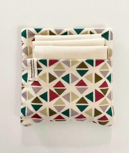 Pochette mouchoirs géométrique